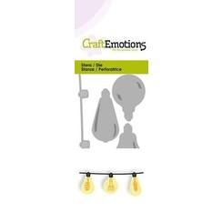 115633/0230 - CraftEmotions Die - hippe ketting gloeilampjes 3D Card 5x10cm