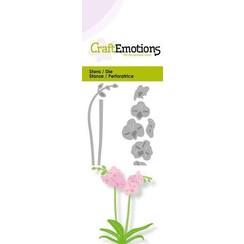 115633/0231 - CraftEmotions Die - orchidee met lange steel 3D Card 5x10cm