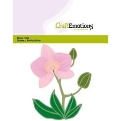 115633/0428 - CraftEmotions Die - Orchidee bloem 3D Card 11x9cm