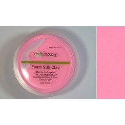 S03-610115/0125 - CraftEmotions Silk foam clay - roze 28gr Air dry