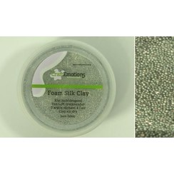 M03-610115/0501 - CraftEmotions Foamball clay - zilver glitter 75ml - 23gr Air dry