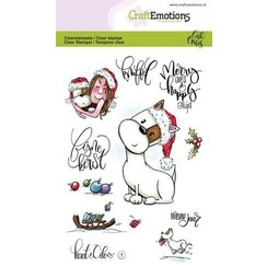 CRE0247 - CraftEmotions clearstamps A6 - Kaat en Odey 1 (NL) Carla Creaties