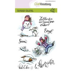CRE0248 - CraftEmotions clearstamps A6 - Kaat en Odey 2 (NL) Carla Creaties