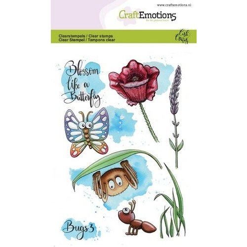 CraftEmotions CRE0273 - CraftEmotions clearstamps A6 - Bugs 3 Carla Creaties