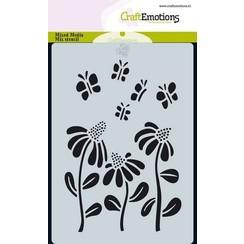 470 766 012 - CraftEmotions Mask stencil Bugs - bloem A6 Carla Creaties