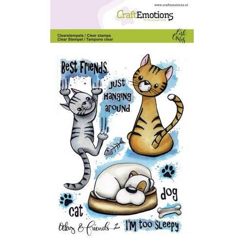 CraftEmotions CRE0275 - CraftEmotions clearstamps A6 - Odey & Friends 2 Carla Creaties