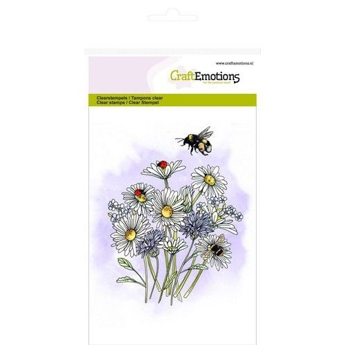 CraftEmotions CRE0282 - CraftEmotions clearstamps A6 - veldbloemen 1 GB