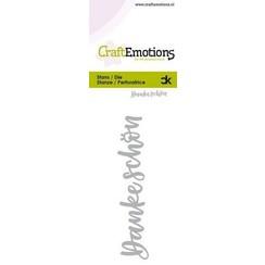 115633-0051 - CraftEmotions Die Handletter - Danke Schön (DE) Card 5x10cm Carla Kamphuis