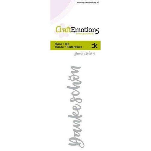 CraftEmotions 115633-0051 - CraftEmotions Die Handletter - Danke Schön (DE) Card 5x10cm Carla Kamphuis