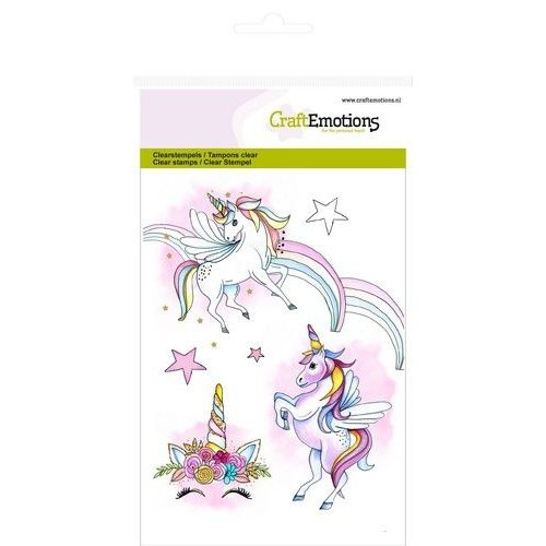 CraftEmotions CRE0286 - CraftEmotions clearstamps A6 - eenhoorn GB