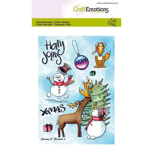 CraftEmotions CRE0306 - CraftEmotions clearstamps A6 - Snowy & friends 2 Carla Creaties