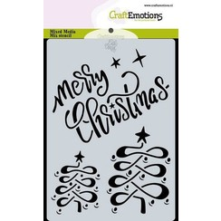 470.766.017 - CraftEmotions Mask stencil Christmas - Merry Christmas Carla Creaties
