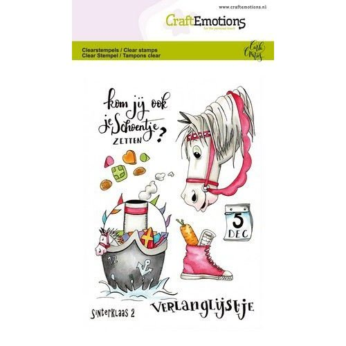 CraftEmotions CRE0304 - CraftEmotions clearstamps A6 - Sint 2 Carla Creaties