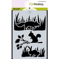 470.766.019 - CraftEmotions Mask stencil Magic Forest - dieren Carla Creaties