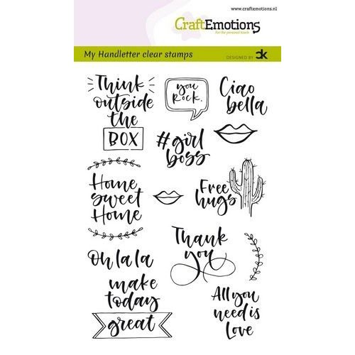 CraftEmotions CRE0295 - CraftEmotions clearstamps A6 - handletter -  Quotes 2 (Eng) Carla Kamphuis