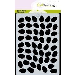 470.766.023 - CraftEmotions Mask stencil achtergrond eieren A6 Carla Creaties