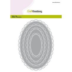 115633/0924 - CraftEmotions Big Nesting Die - ovalen scalop XL open Card 150x160 6,8-15,0cm