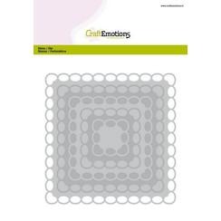 115633/0932 - CraftEmotions Big Nesting Die - vierkanten scalop XL oval Card 150x160 6,8-15,0cm