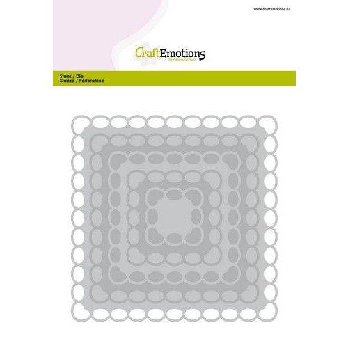 CraftEmotions 115633/0932 - CraftEmotions Big Nesting Die - vierkanten scalop XL oval Card 150x160 6,8-15,0cm
