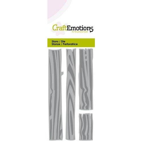 CraftEmotions 115633/0259 - CraftEmotions Die - Rustieke planken Card 5x10cm