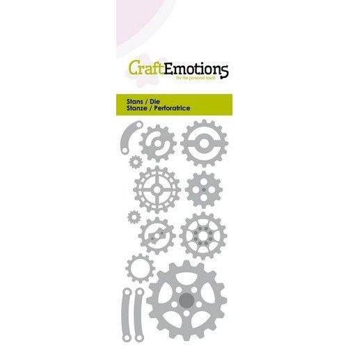 CraftEmotions 115633/0260 - CraftEmotions Die - tandwielen mix Card 5x10cm