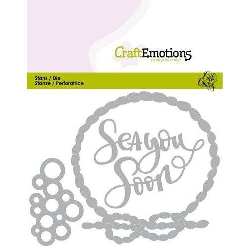 CraftEmotions 115633/0437 - CraftEmotions Die - Ocean - Sea You Soon Card 11x9cm Carla Creaties