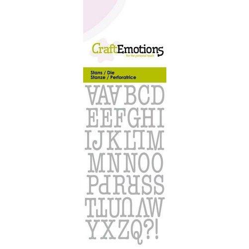 CraftEmotions 115633/0261 - CraftEmotions Die - alfabet typewriter hoofdletters Card 5x10cm 12mm