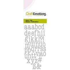 115633/0262 - CraftEmotions Die - alfabet typewriter kleine letters Card 5x10cm 9mm - 12mm