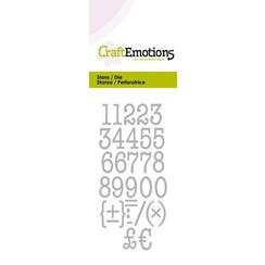 115633/0263 - CraftEmotions Die - typewriter cijfers Card 5x10cm 12mm