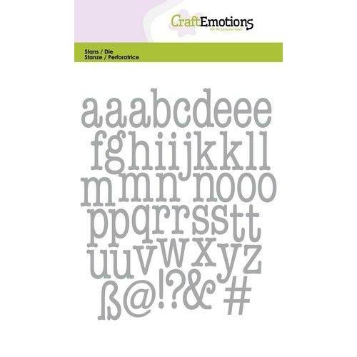 CraftEmotions 115633/0525 - CraftEmotions Die - alfabet typewriter kleine letters Card 10,5x14,8cm 14,5mm - 20mm