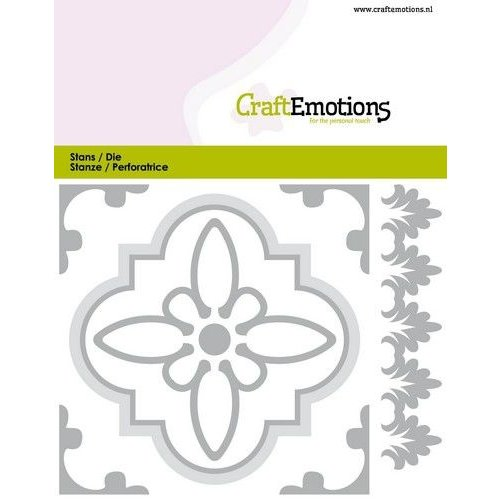 CraftEmotions 115633/0825 - CraftEmotions Die - Tegel 1 Card 11x9cm - 82 mm