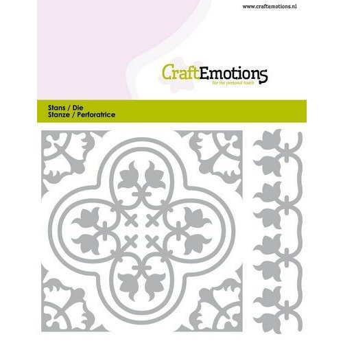 CraftEmotions 115633/0826 - CraftEmotions Die - Tegel 2 Card 11x9cm - 82 mm