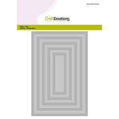 115633/0903 - CraftEmotions Big Nesting Die - rechthoeken Card 150x160 - 6,6-15,0cm