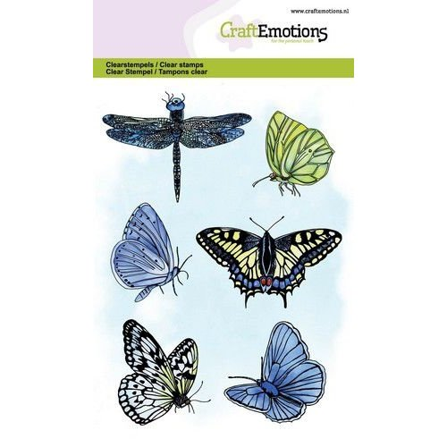 CraftEmotions CRE0348 - CraftEmotions clearstamps A6 - vlinders GB