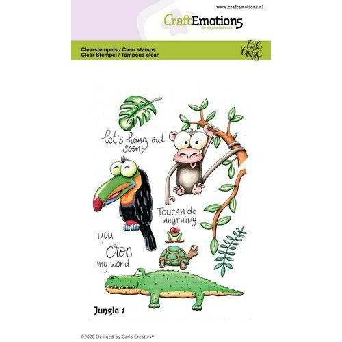 CraftEmotions CRE0358 - CraftEmotions clearstamps A6 - Jungle 1 Carla Creaties