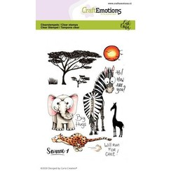CRE0360 - CraftEmotions clearstamps A6 - Savanne 1 Carla Creaties