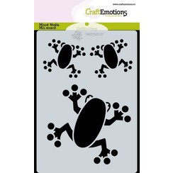 470766027 - CraftEmotions Mask stencil Jungle - kikkers A6 Carla Creaties