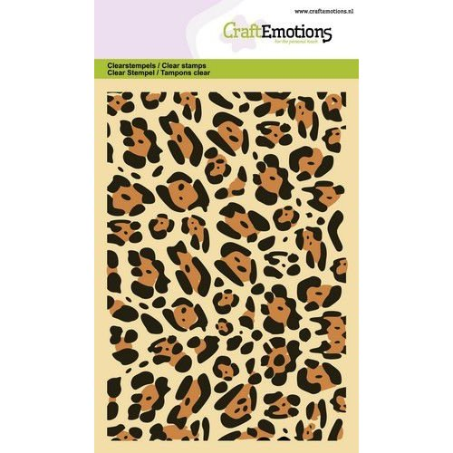 CraftEmotions CRE0346 - CraftEmotions clearstamps A6 - panter print GB
