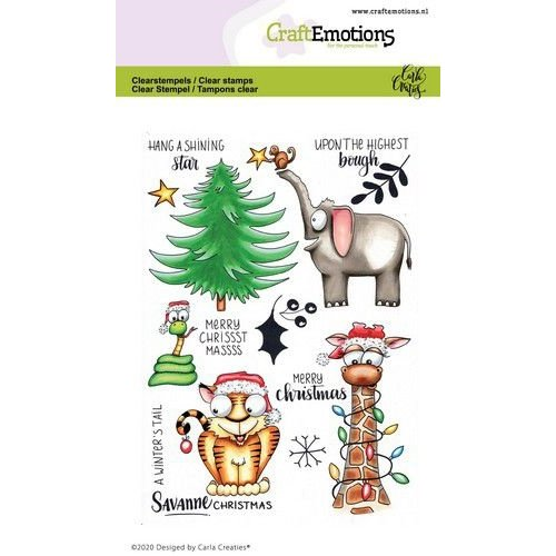 CraftEmotions CRE0363 - CraftEmotions clearstamps A6 - Savanne Christmas Carla Creaties