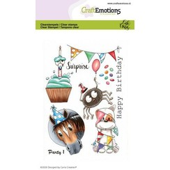 CRE0366 - CraftEmotions clearstamps A6 - Party 1 Carla Creaties