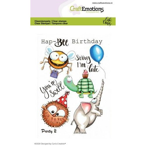 CraftEmotions CRE0367 - CraftEmotions clearstamps A6 - Party 2 Carla Creaties