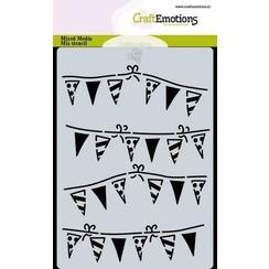 470.766.033 - CraftEmotions Mask stencil slinger vlaggetjes A6 Carla Creaties