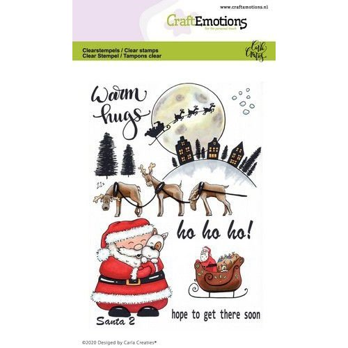 CraftEmotions CRE0365 - CraftEmotions clearstamps A6 - Santa 2 Carla Creaties