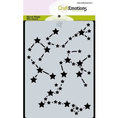 470.766.054 - CraftEmotions Mask stencil Space - Stars sign Carla Creaties