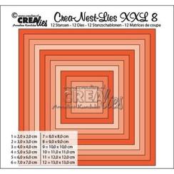 CLNEST08XXL - Crealies Crea-nest-dies XXL no. 8 stans vierkant basis CLNestXXL08 / 2 cm - 13 cm