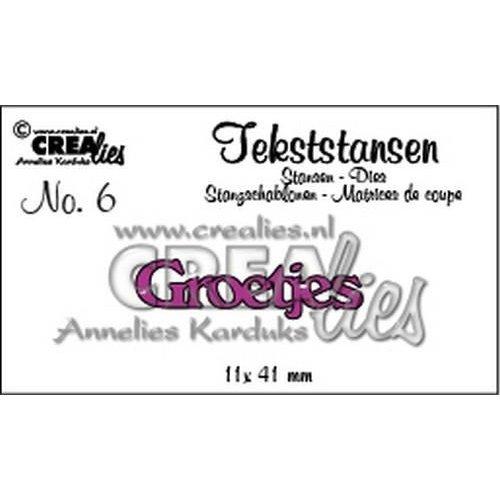 Crealies CLTS06 - Crealies tekststans - Groetjes (NL) 6 / 11x41 mm