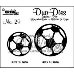 CLDD29 - Crealies Duo Dies no. 29 voetballen 30x30mm-40x40mm / 9