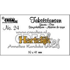 CLTS24 - Crealies Tekststans no. 24 Hartelijk (NL) 10x41mm / 4