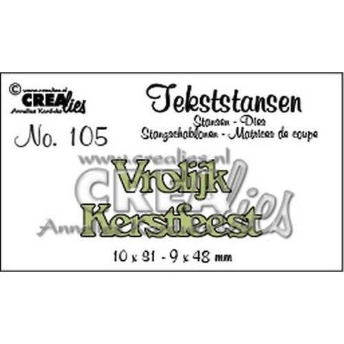 Crealies CLTS105 - Crealies Tekststans no. 105 Vrolijk Kerstfeest (NL) 10x31mm-9x48mm / 05