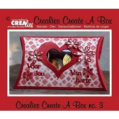 CCAB03 - Crealies Create A Box no. 3 kussentjesdoos 11 x 18 cm / 3